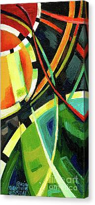 Creve Coeur Streetlight Banners Whimsical Motion 15 Canvas Print