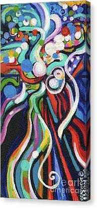 Streetlight Canvas Print - Creve Coeur Streetlight Banners Whimsical Motion 21 by Genevieve Esson
