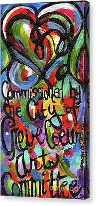 Streetlight Canvas Print - Creve Coeur Streetlight Banners Whimsical Motion 22 by Genevieve Esson