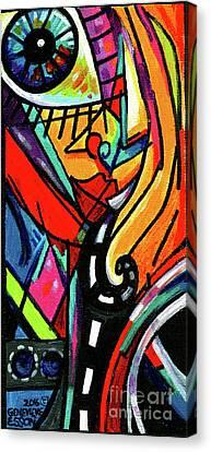 Streetlight Canvas Print - Creve Coeur Streetlight Banners Whimsical Motion 9 by Genevieve Esson