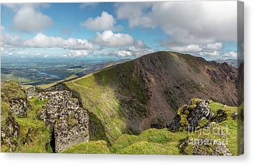 Crib Goch Mountain Canvas Print by Adrian Evans