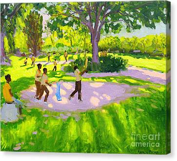 Keeper Canvas Print - Cricket Practice by Andrew Macara