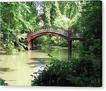 William And Mary Canvas Print - Crim Dell Bridge Iv by Jennie  Richards