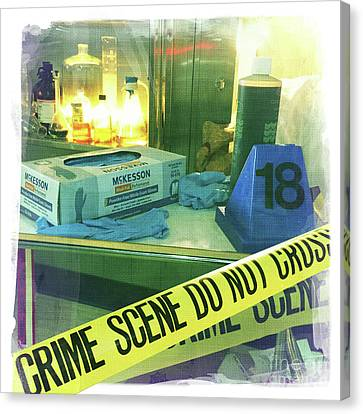Crime Scene Do Not Cross Canvas Print by Nina Prommer