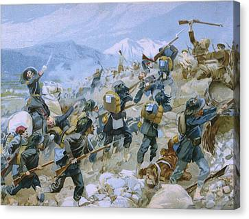 Crimean War And The Battle Of Chernaya Canvas Print by Italian School
