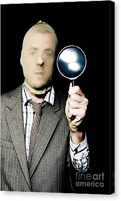 Criminal With Magnifying Glass Canvas Print by Jorgo Photography - Wall Art Gallery