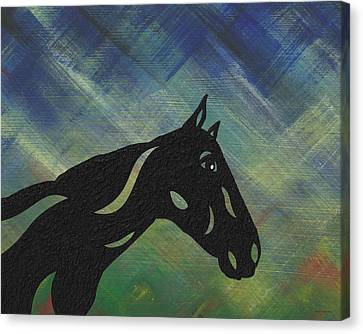Crimson - Abstract Horse Canvas Print by Manuel Sueess