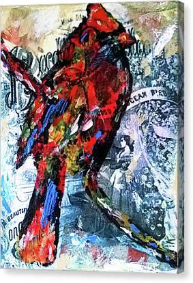 Crimson Cardinal Canvas Print