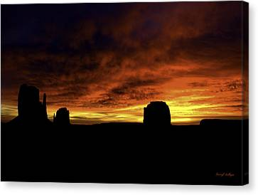 Crimson Canvas Print by Darryl Gallegos