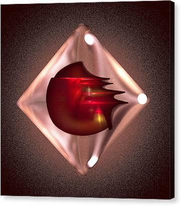 Crimson Heart Canvas Print by Viktor Savchenko