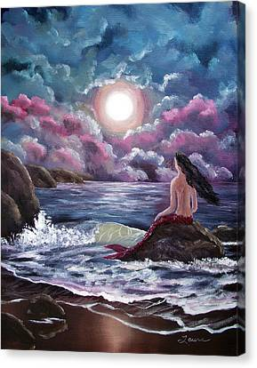 Crimson Mermaid Canvas Print