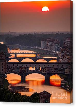 Crimson River Canvas Print by Giuseppe Torre