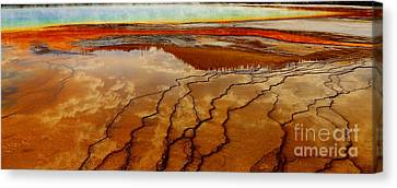 Canvas Print featuring the photograph Crimson River by Robert Pearson