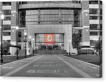 Crimson Tide Football Canvas Print by JC Findley