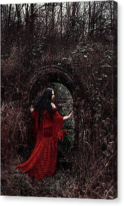 Crimson Witch Canvas Print by Cambion Art
