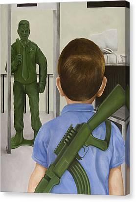 Ak-47 Canvas Print - Crisis Averted by Josh Bernstein