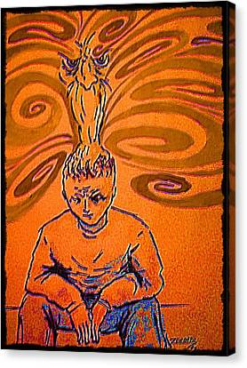 Opposing Forces Canvas Print - Crisis Of Conscience by Paulo Zerbato
