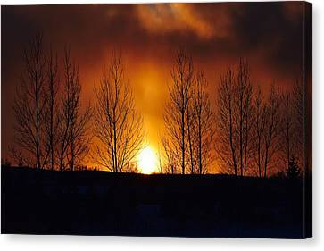 Crisp Sunset Canvas Print by Dacia Doroff