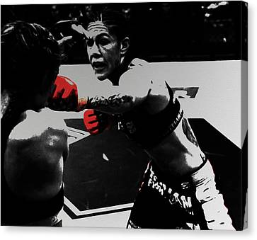 Cristiane Justino Venancio Red Gloves Canvas Print by Brian Reaves