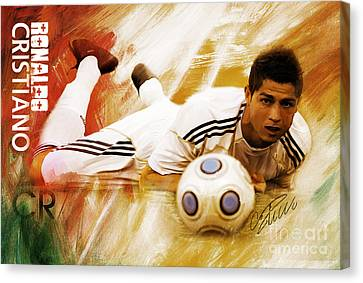Cristiano Ronaldo 092f Canvas Print by Gull G