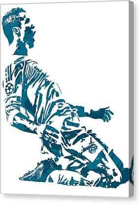 National League Canvas Print - Cristiano Ronaldo Real Madrid Pixel Art 2 by Joe Hamilton