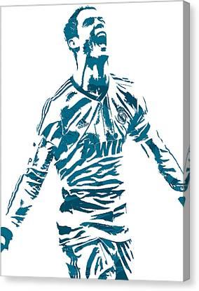 Cristiano Ronaldo Canvas Print - Cristiano Ronaldo Real Madrid Pixel Art 4 by Joe Hamilton