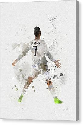 Soccer Canvas Print - Cristiano Ronaldo by Rebecca Jenkins
