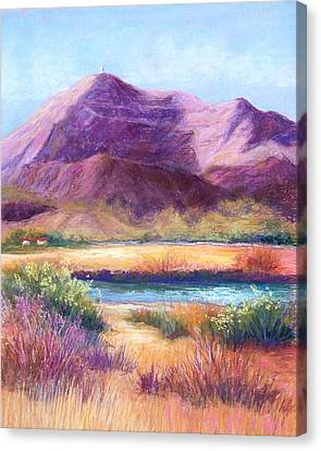 Cristo Rey In Autumn Canvas Print by Candy Mayer