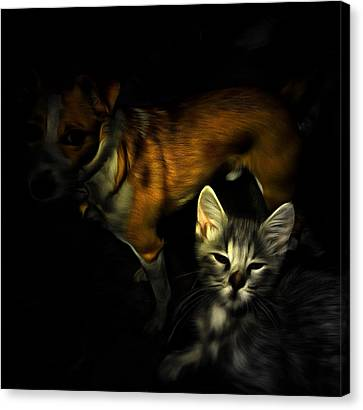 Critter Halloween Canvas Print by Dorothy Berry-Lound