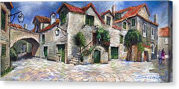 Croatia Dalmacia Square Canvas Print by Yuriy  Shevchuk