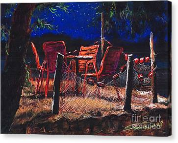 Croatia Fisherman Restaurant Canvas Print by Yuriy  Shevchuk