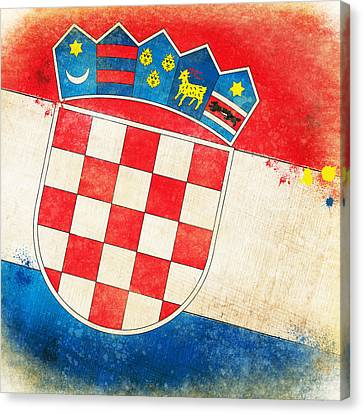 Croatia Flag Canvas Print by Setsiri Silapasuwanchai