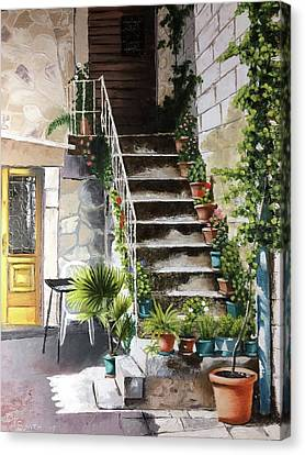 Croatian Courtyard Canvas Print
