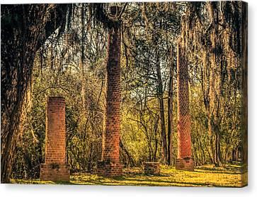 Crocheron Columns Old Cahawba Canvas Print by Phillip Burrow