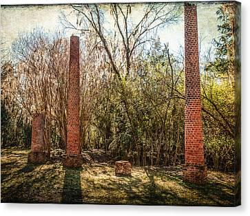 Crocheron Columns Canvas Print by Phillip Burrow
