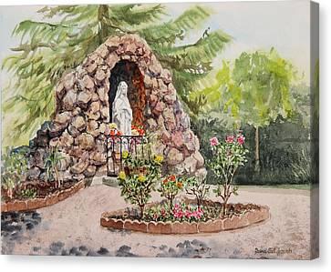 Crockett California Saint Rose Of Lima Church Grotto Canvas Print by Irina Sztukowski