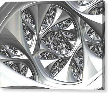 Chrome Structure Canvas Print