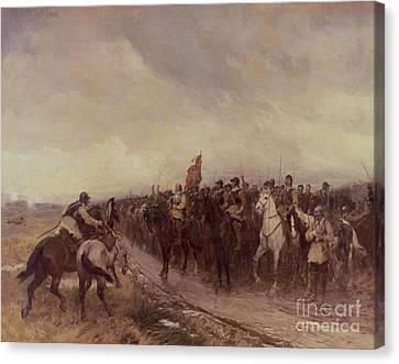 Cromwell At Dunbar Canvas Print by Andrew Carrick Gow