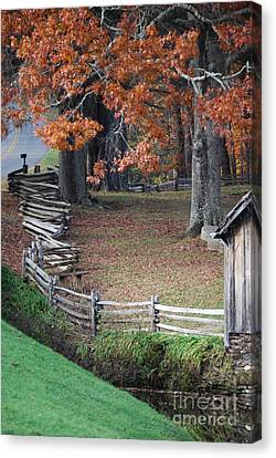 Canvas Print featuring the photograph Crooked Fence by Eric Liller