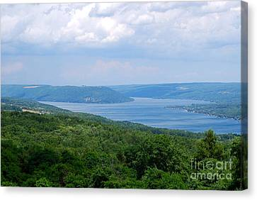 Keuka Canvas Print - Crooked Lake Bluff Of Keuka Lake by Alisa Potter