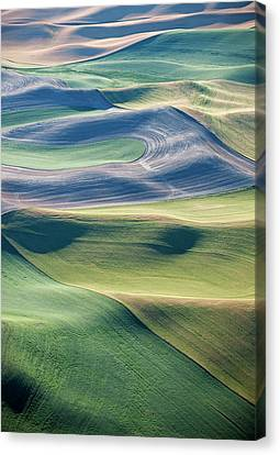 Crops And Contours Canvas Print