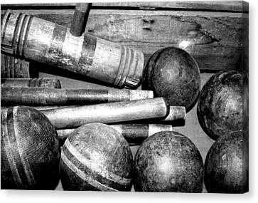 Croquet Canvas Print by Gina  Zhidov
