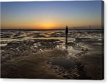 Crosby Beach Sunset Canvas Print