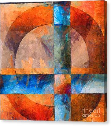 Cross And Circle Abstract Canvas Print by Edward Fielding