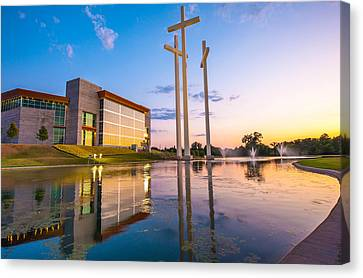Cross Church Sunset - Bentonville - Rogers Arkansas Canvas Print by Gregory Ballos
