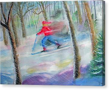 Cross Country Ski Canvas Print by Robert P Hedden