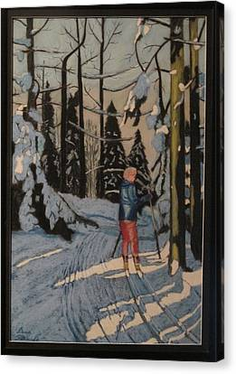 Cross Country Skiing In Upstate Ny Canvas Print