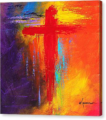 Cross Canvas Print by Kume Bryant