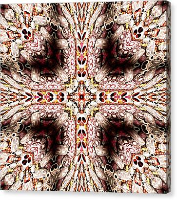 Cross Of Wooden Beads Warp Abstract Canvas Print by Rose Santuci-Sofranko