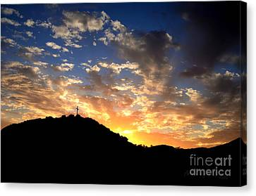 Cross On A Hill Canvas Print